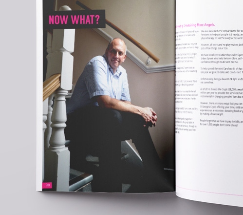 Entertaining More Angels book Chris Fields CEO focus double page spread