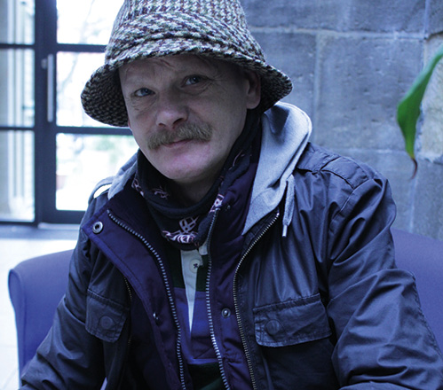 Resident of St George's Crypt homeless charity in Leeds