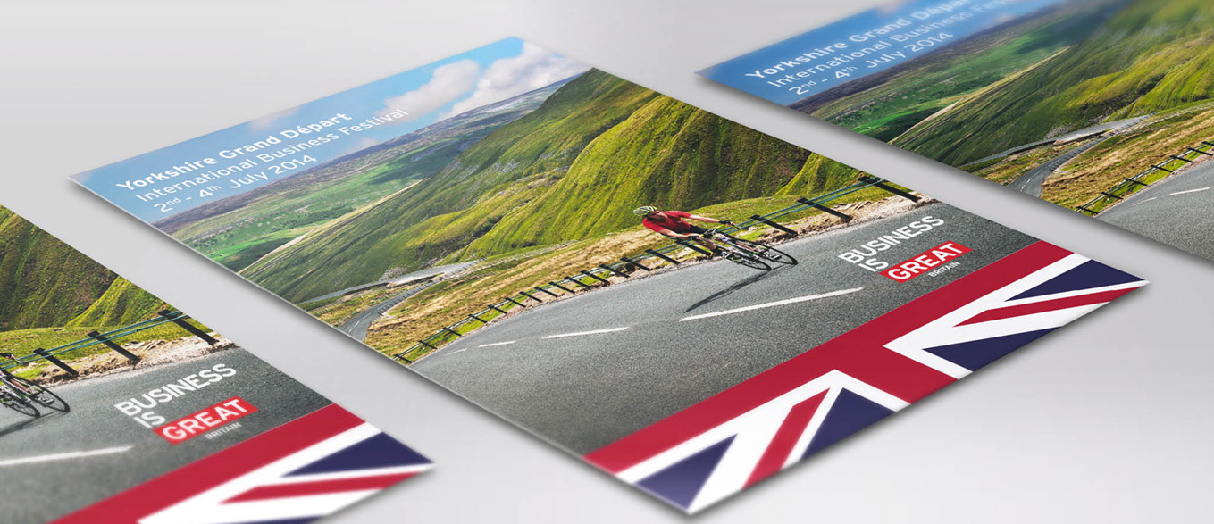 UK Trade & Investment promotion material for Launch Grand Depart
