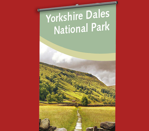 Yorkshire Dales National Park banner stand