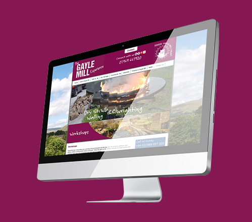 Rotating banner on Gayle Mill Trust website homepage