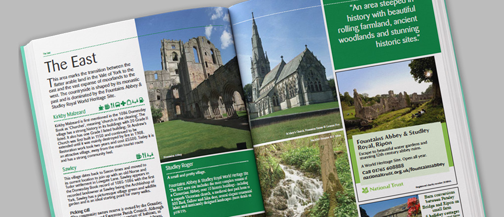 Double page spread from the Nidderdale Visitor Guide