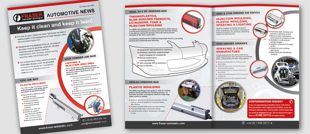 Automotive Brochure Spread